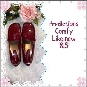 Predictions Deep Dark Red Patent Faux Leather 8.5